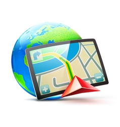 global positioning system vector image vector image