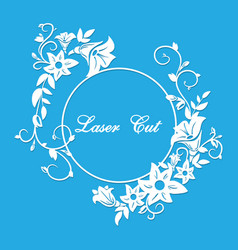 Laser cut floral ornament vector