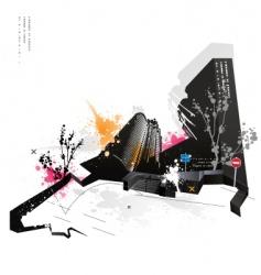 modern grunge urban graphic design vector image vector image