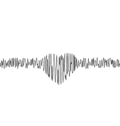 Music equalizer in form of heart vector image