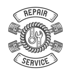 Repair Service Wrenches pistons vector image vector image