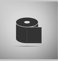 toilet paper roll icon isolated on grey background vector image