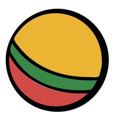 baby ball icon cartoon vector image