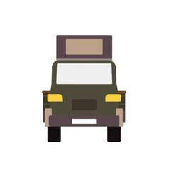 commercial delivery van cargo truck isolated on vector image