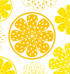 Lemon yellow slices vector
