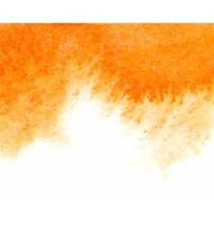 Orange abstract watercolor textured vector image vector image