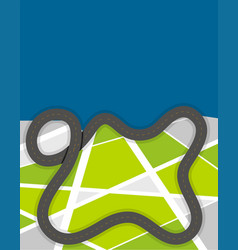 road design on green land vector image