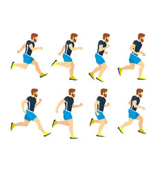 running man young athlete in tracksuit animation vector image vector image
