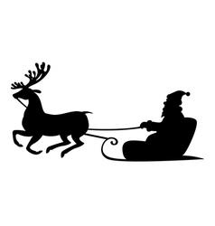 santa deer4 vector image vector image