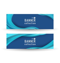 Site wave abstract banner vector image vector image