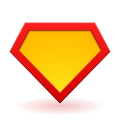 Superhero logo template vector image vector image