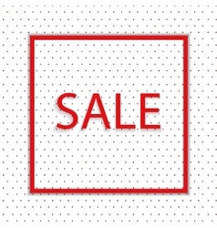dot background with text sale vector image