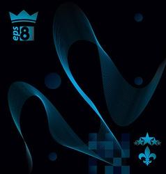 Elegant flowing lines background royal design eps8 vector image