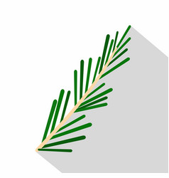 green rosemary twig icon flat style vector image