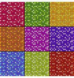 set of mosaic patterns vector image vector image