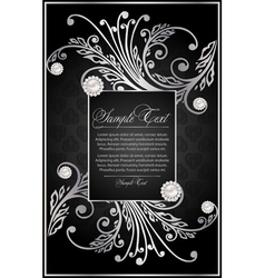 silver background for decoration vector image vector image