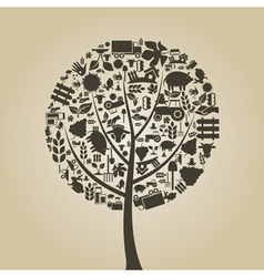 Tree agriculture vector image