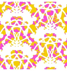Vintage damask pattern with abstract shapes vector image