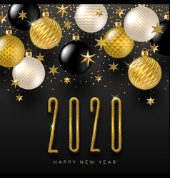 2020 new year greeting design vector image