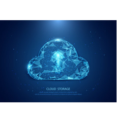 abstract cloud form of a starry sky technology vector image