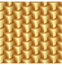 Abstract gold pattern made from stacked vector