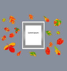 autumn leaves frame for text against the backgrou vector image