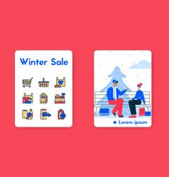 banner couple shopping vector image