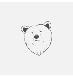 bear icon in grayscale vector image