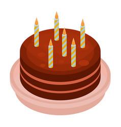 big anniversary cake icon isometric style vector image