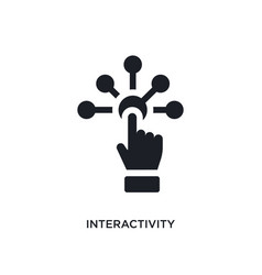 Black interactivity isolated icon simple element vector