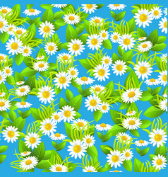 blue floral seamless pattern summer vector image