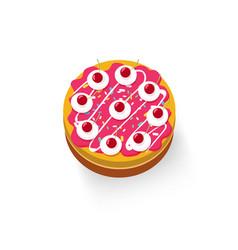 cake isolated on white background icon vector image