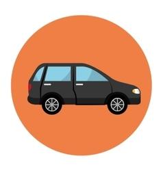 car sedan vehicle icon vector image