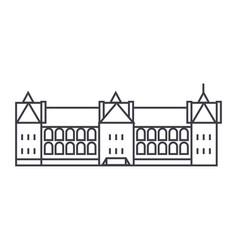 Castle in france line icon sign vector