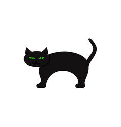 cat of icon halloween in the color vector image