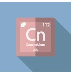 Chemical element Copernicium Flat vector