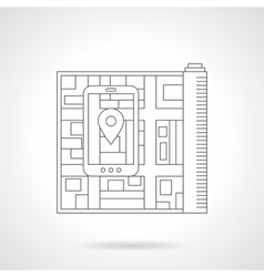 City navigation detail line icon vector