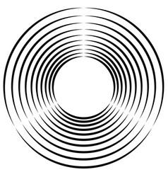 concentric radial circles circular element vector image