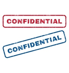 Confidential rubber stamps vector