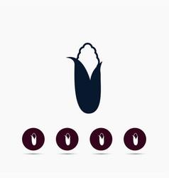 corn icon simple gardening element symbol design vector image