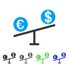 Currency market swings flat icon vector