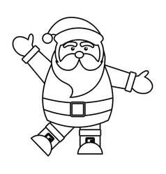 cute santa avatar character vector image
