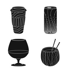 Design drink and bar icon collection of vector