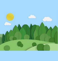 eco green forest background lansacape ecology and vector image