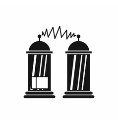 Electrical impulses icon simple style vector