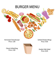 fast food restaurant banner vector image