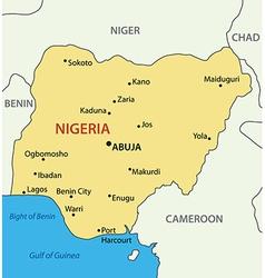 Federal Republic of Nigeria - map vector image