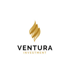 finance investment logo design inspiration vector image