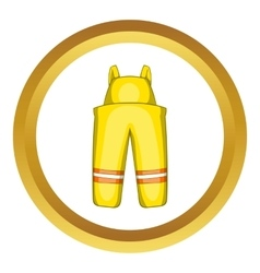 Firefighter costume icon vector
