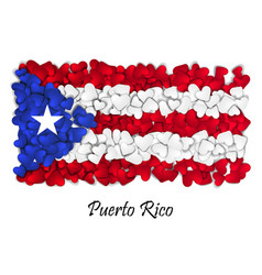 Flag love puerto rico flag heart glossy with vector